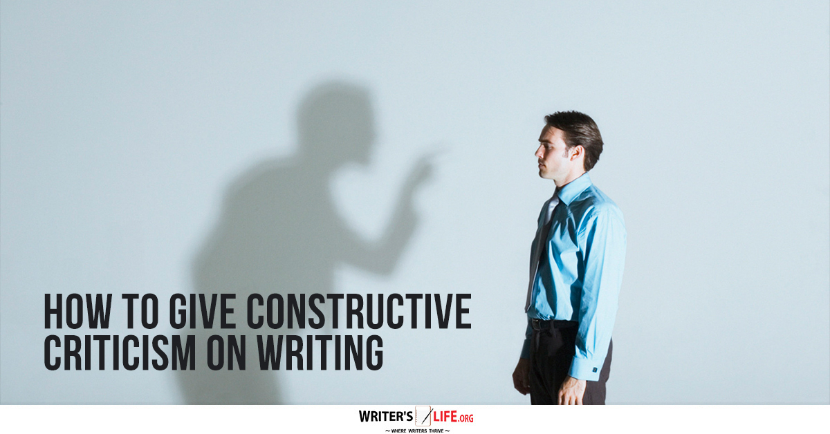 how to give constructive criticism writing a cover