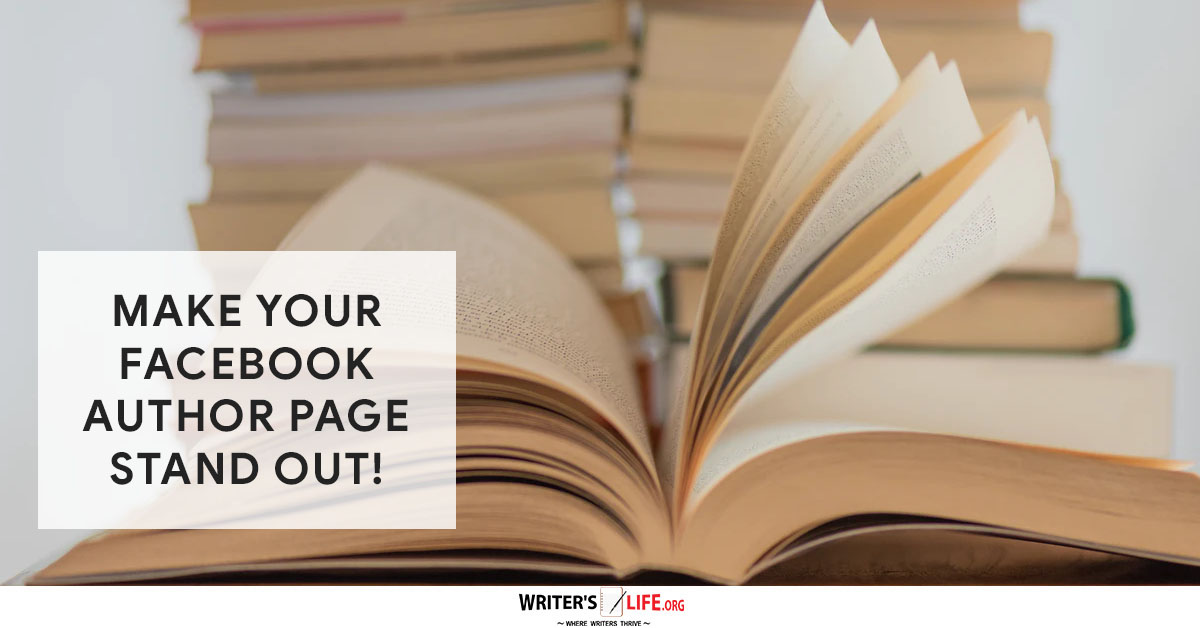 Facebook Author page - picture of an open book