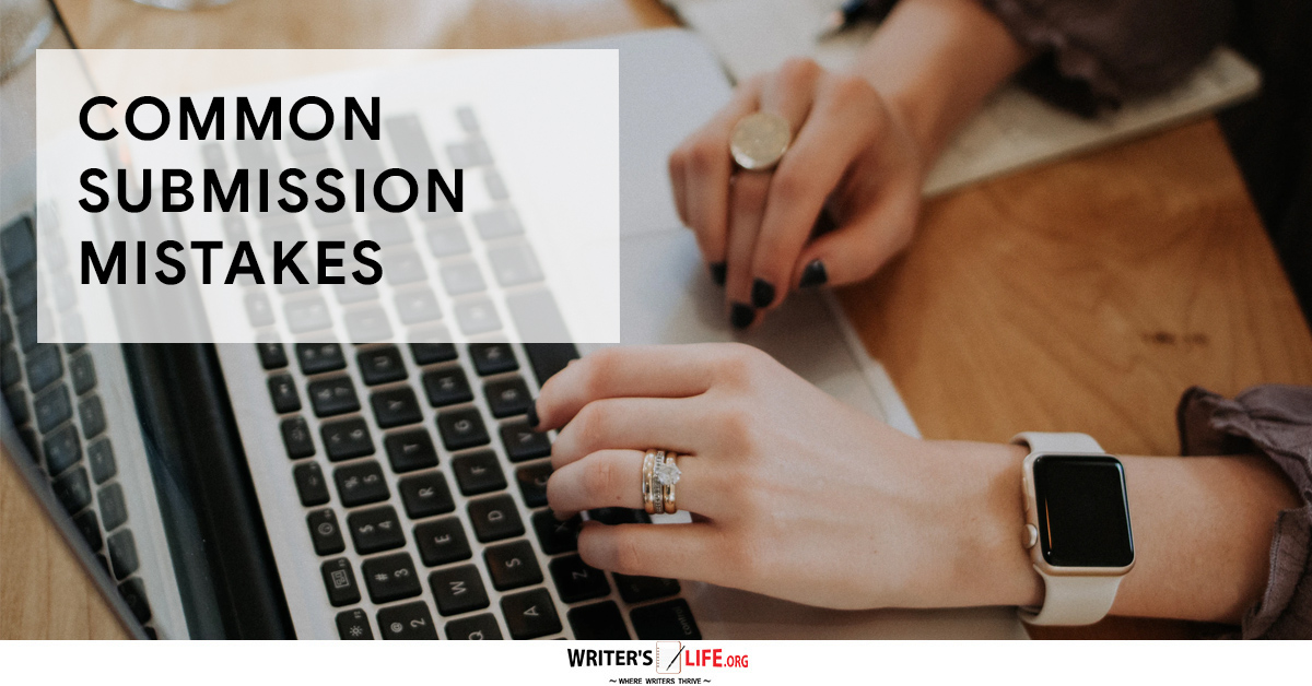 Submission mistakes - hands on a laptop keyboard typing
